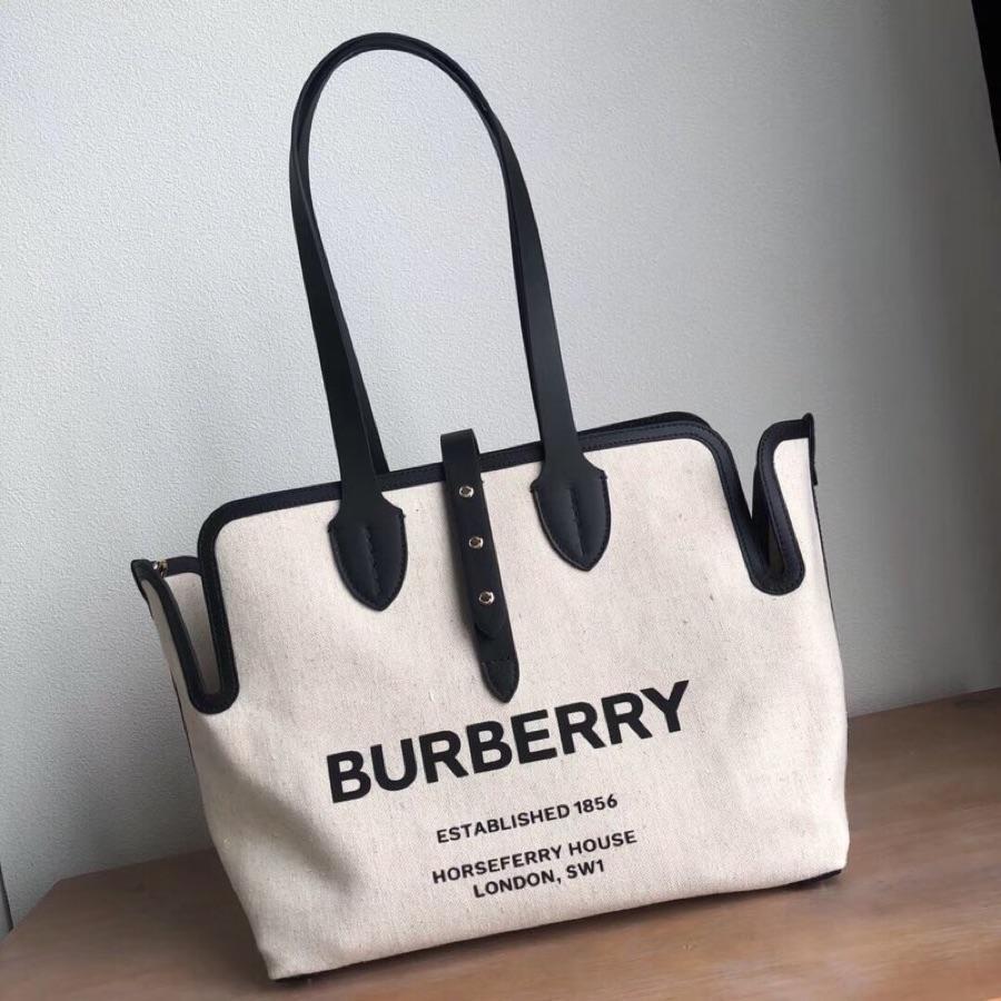 Replica Burberry The Medium Soft Cotton Canvas Belt Bag Black