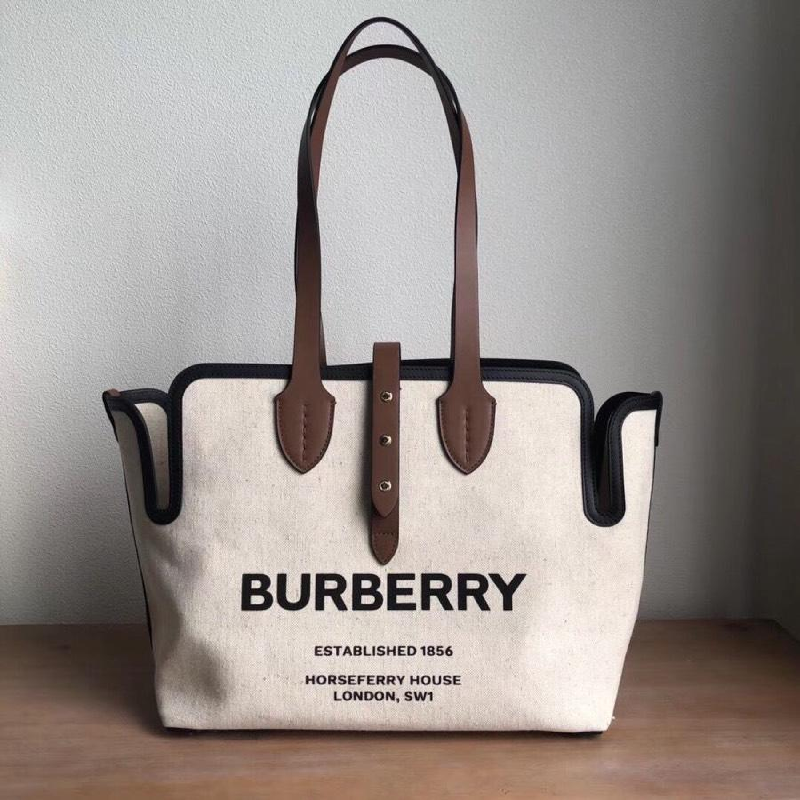 Replica Burberry The Medium Soft Cotton Canvas Belt Bag Brown