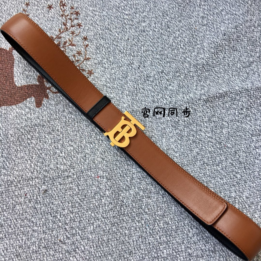 Replica Burberry Women Monogram Motif Leather Belt Width 3.5cm 020