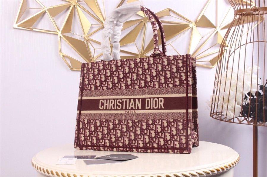 Replica Burgundy Dior Book Tote Dior Oblique bag