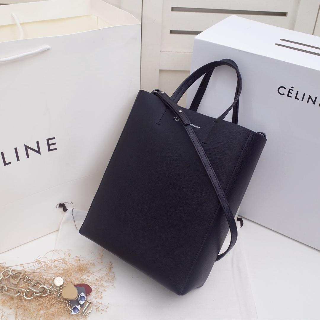 Replica Celine Cabas in Grained Calfskin Black