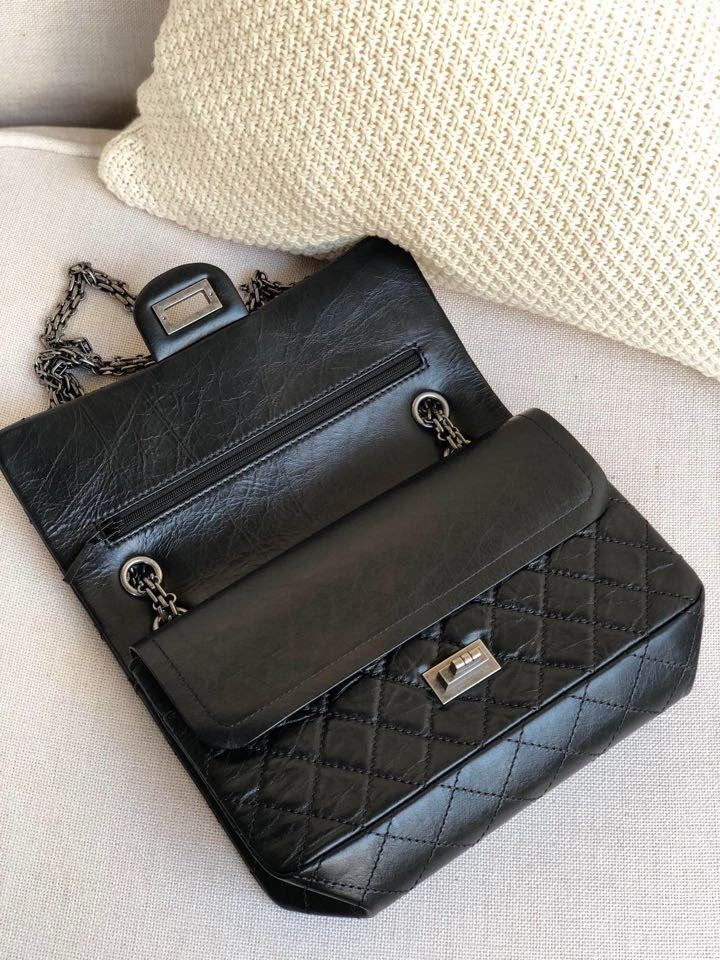 Replica Chanel Classics 2.55 Handbag Aged Calfskin Silver Metal