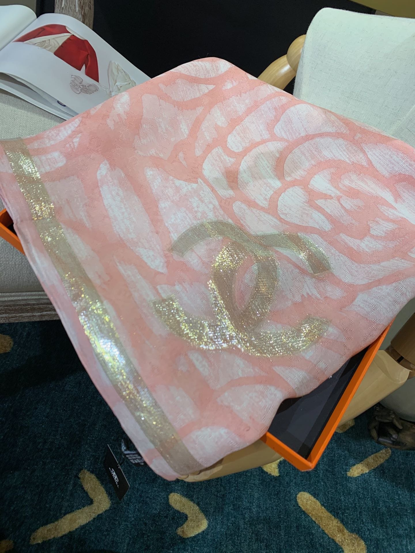 Replica Chanel Women Scarf Real Silk 0001