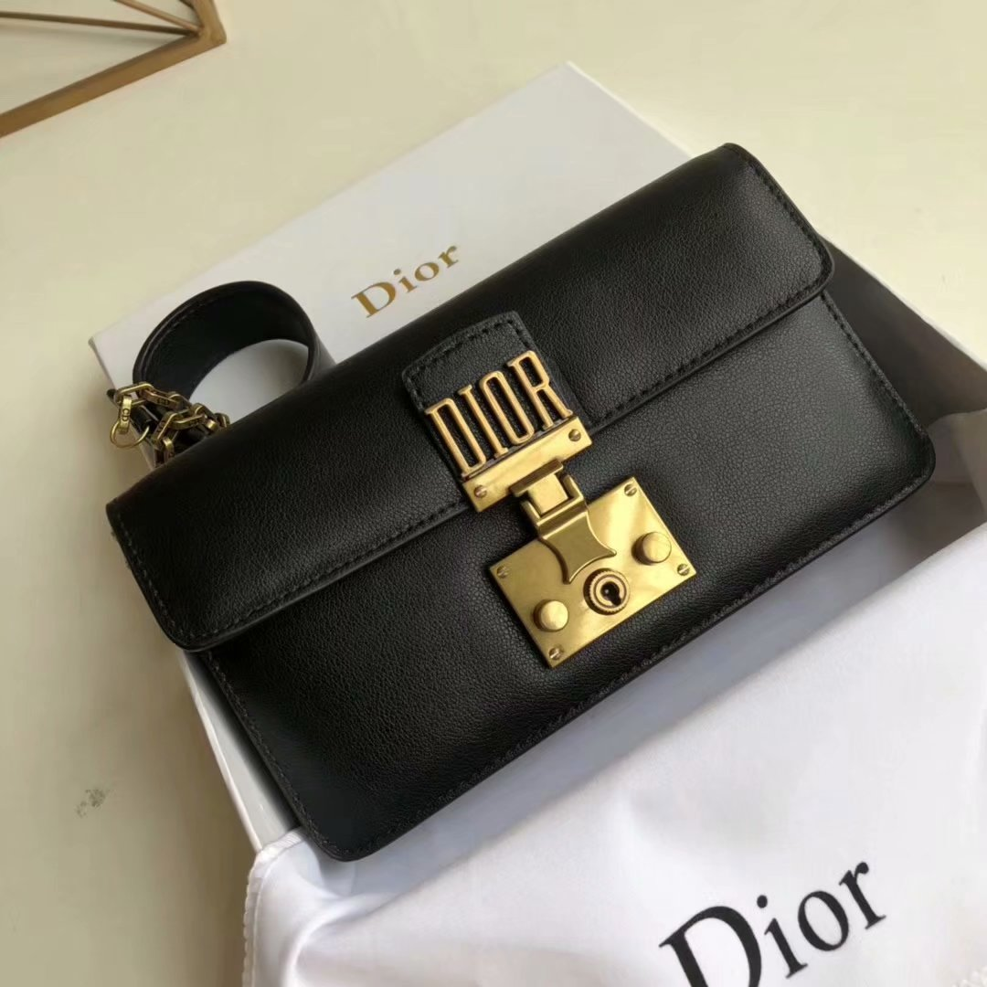 Replica Dior Dioraddict Small Women Shoulder Bag Black Leather