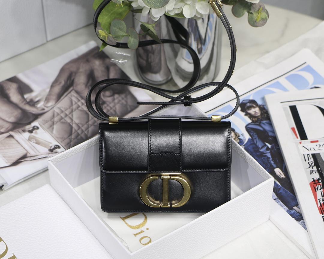 Replica Dior Mini Micro 30 Montaigne Bag Black Box Calfskin