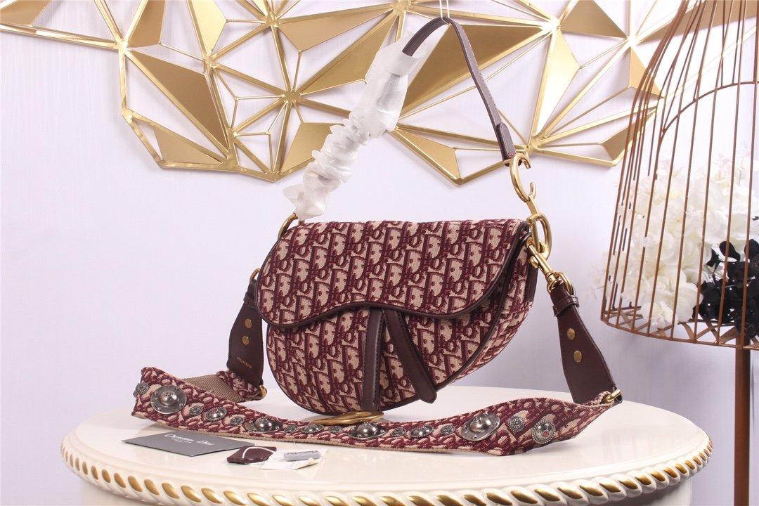 Replica Dior Oblique Saddle bag Red