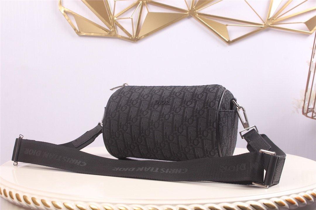 Replica Dior Roller Dior Oblique Messenger Bag Black