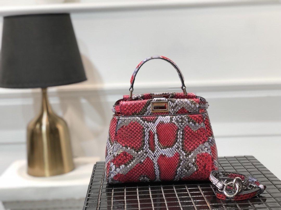 Replica Fendi Peekaboo Iconic Mini Python handbag 002