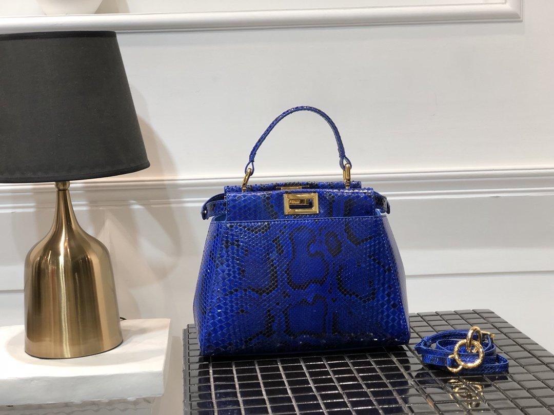 Replica Fendi Peekaboo Iconic Mini Python handbag 004