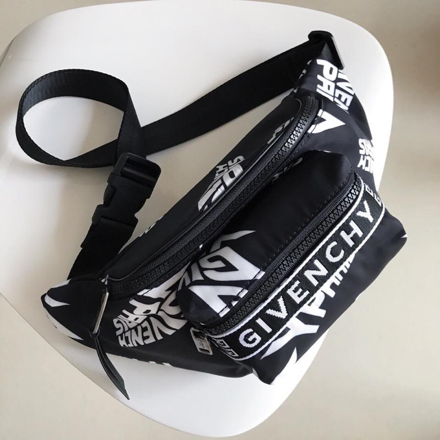 Replica Givenchy Paris Printed Bum Bag Black
