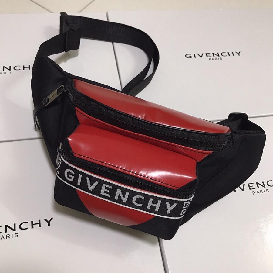 Replica Givenchy Paris Printed Bum Bag Red