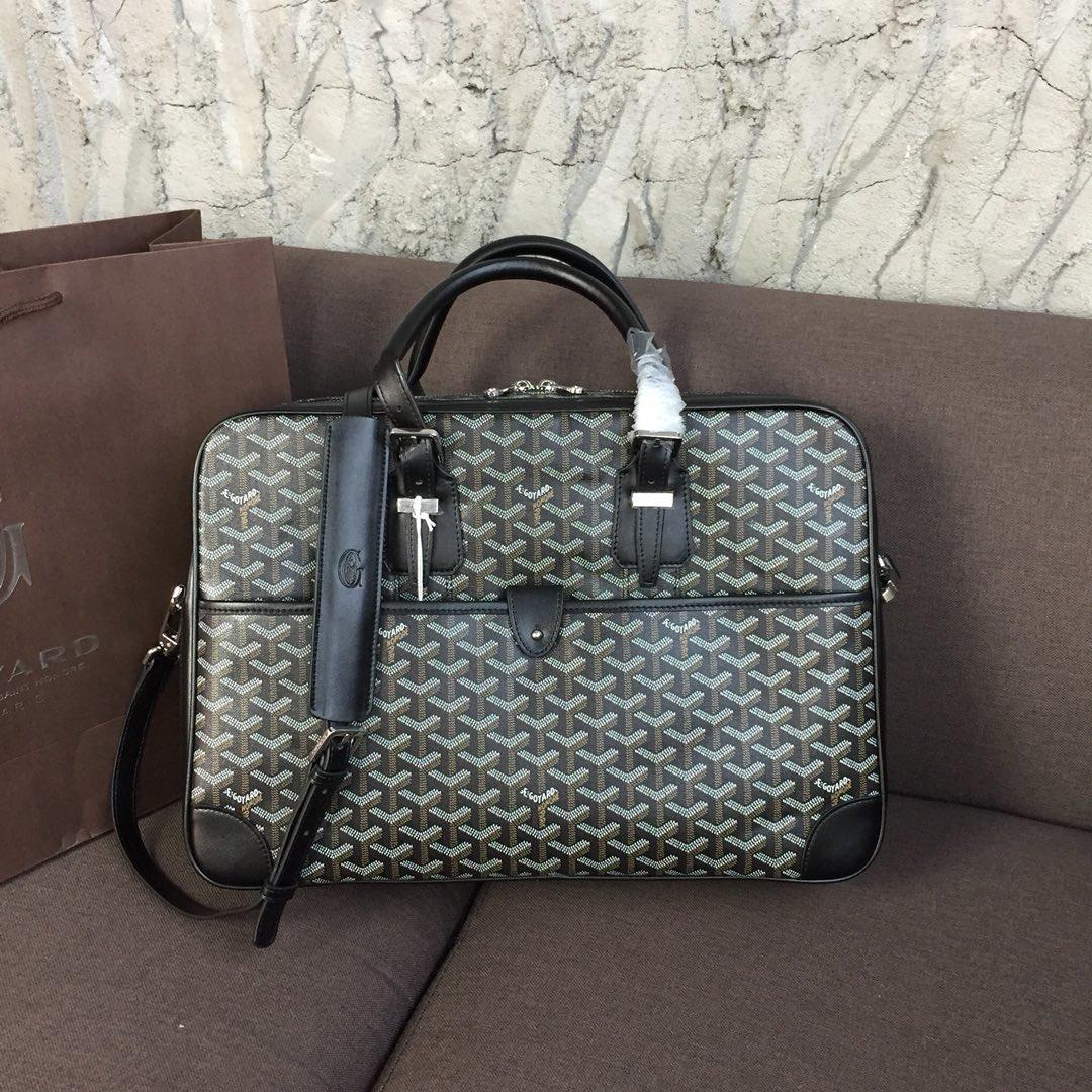 Replica Goyard Men Ambassador Briefcase Black