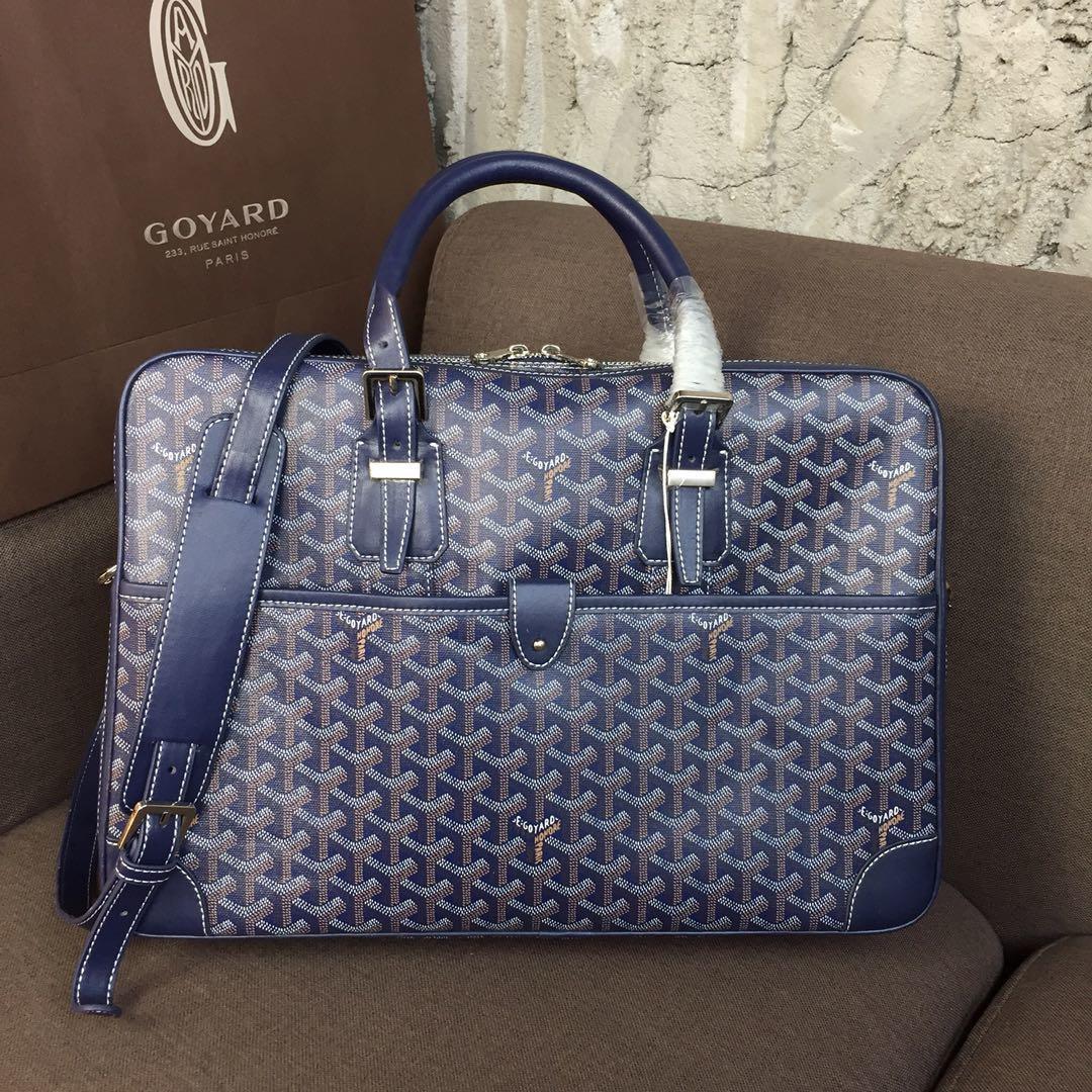Replica Goyard Men Ambassador Briefcase Blue