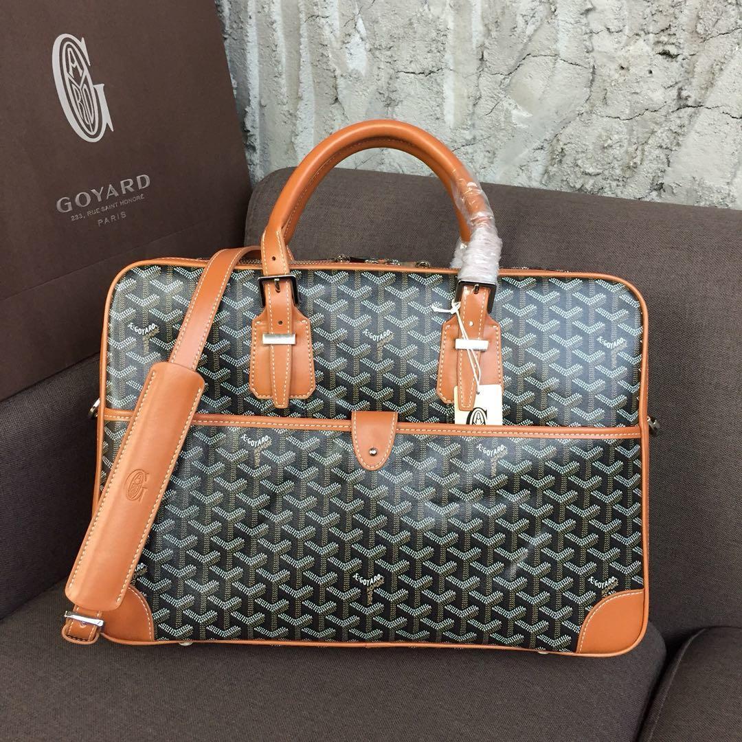 Replica Goyard Men Ambassador Briefcase Coffee