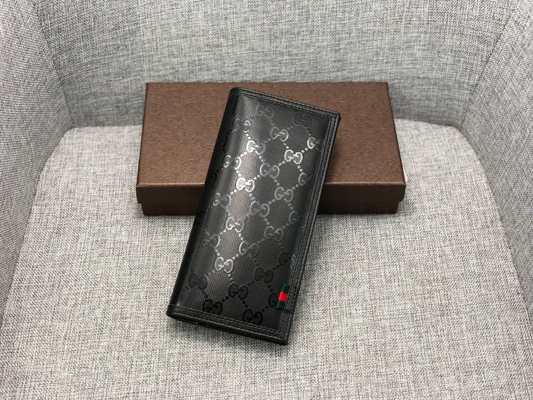 Replica Gucci 225826 Men Long Wallet Black