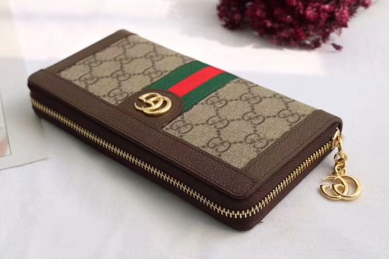 a0d749b41de73c Gucci Ophidia Gg Zip Around Wallet 523154 Dark Coffee | Stanford ...