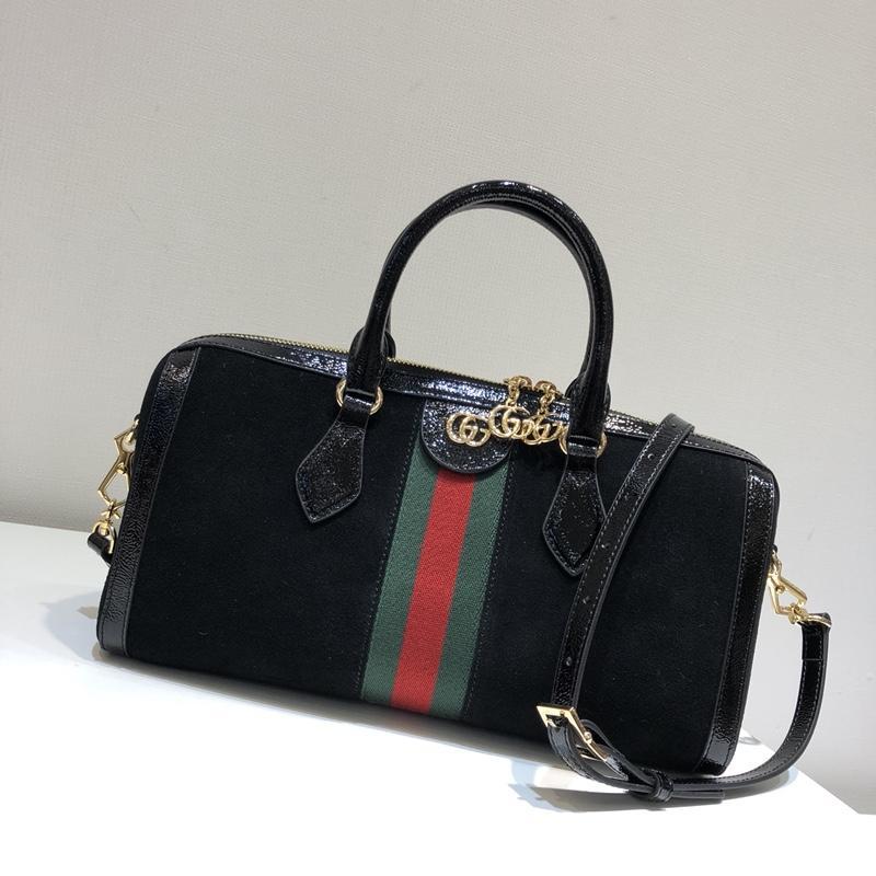 Replica Gucci 524532 Ophidia Medium Top Handle Bag Black Suede