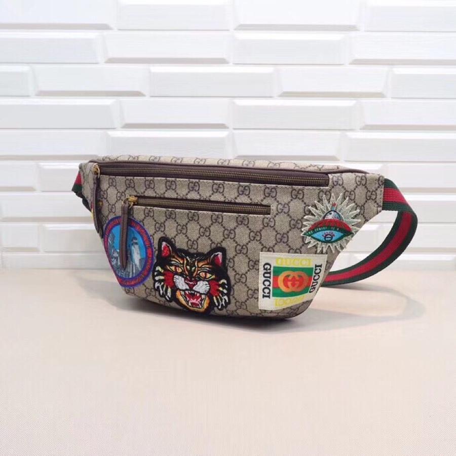 Replica Gucci 529711 Men Belt Bag GG Supreme Tag