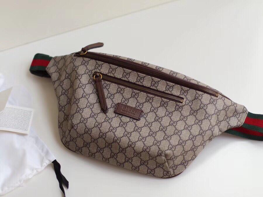 Replica Gucci 529711 Men Belt Bag GG Supreme