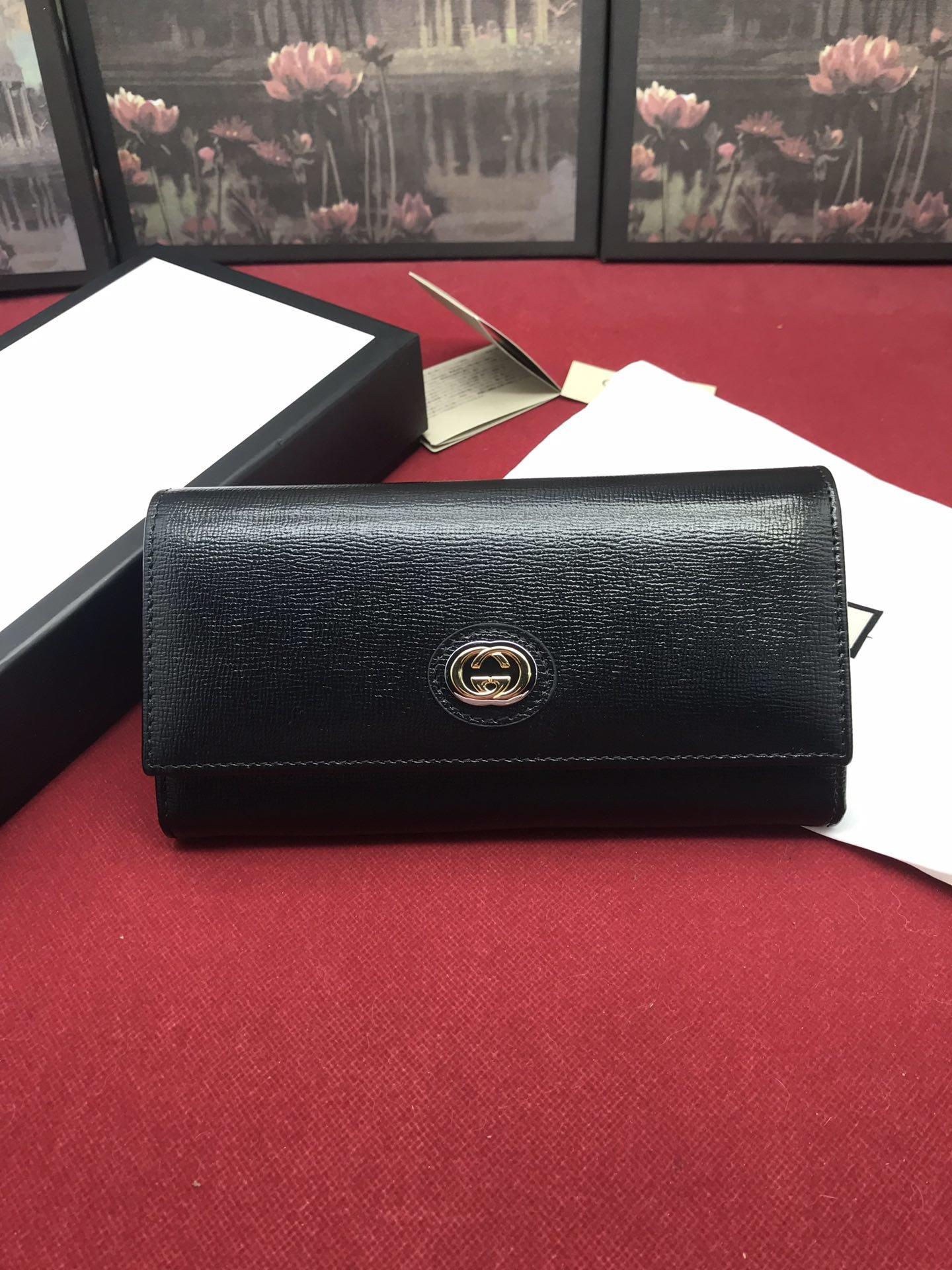 Replica Gucci 598531 Women Leather Continental Wallet Black