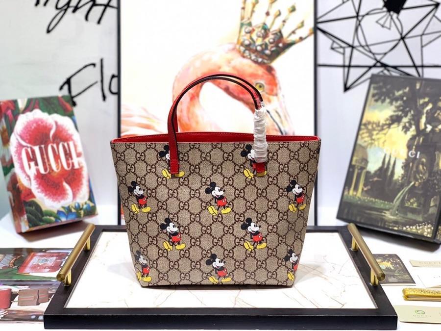 Replica Gucci Childrens GG Ranch Mickey Mouse Tote Bag