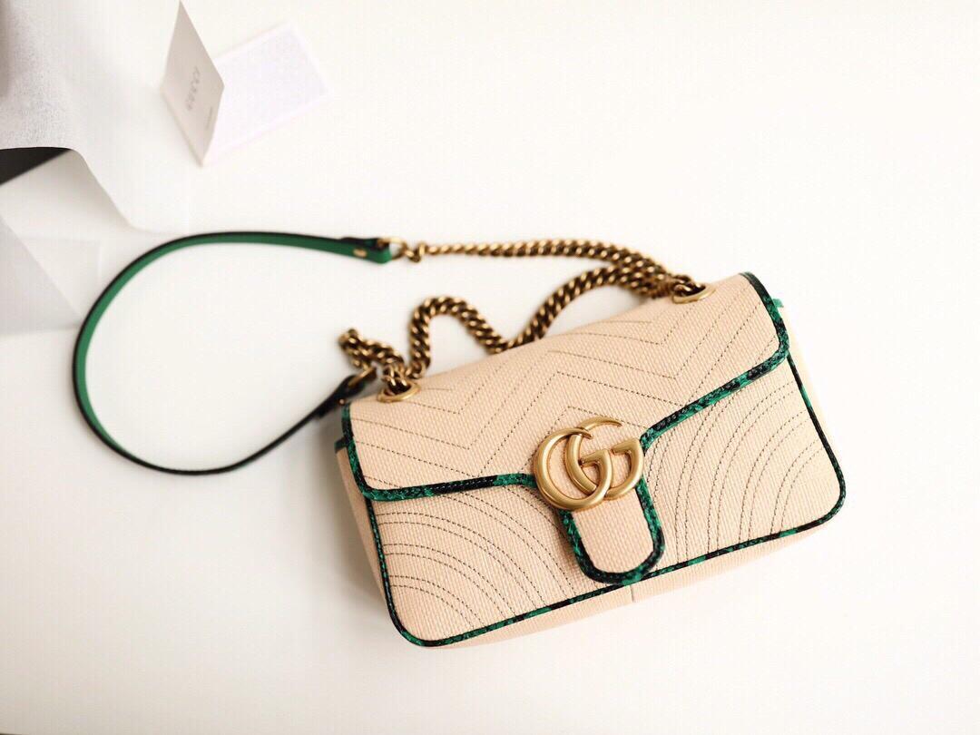 Replica Gucci Women Online Exclusive GG Marmont Raffia Small Shoulder Bag 443497
