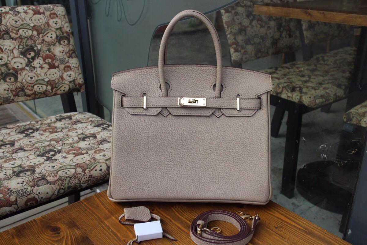 Replica Hermes Birkin Togo Calfskin Handbag 30cm and 35cm Grey