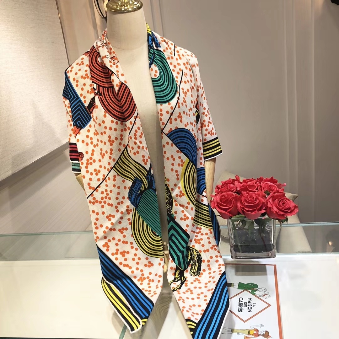 Replica Hermes Women Scarf Mulberry Silk and Cashmere 0002