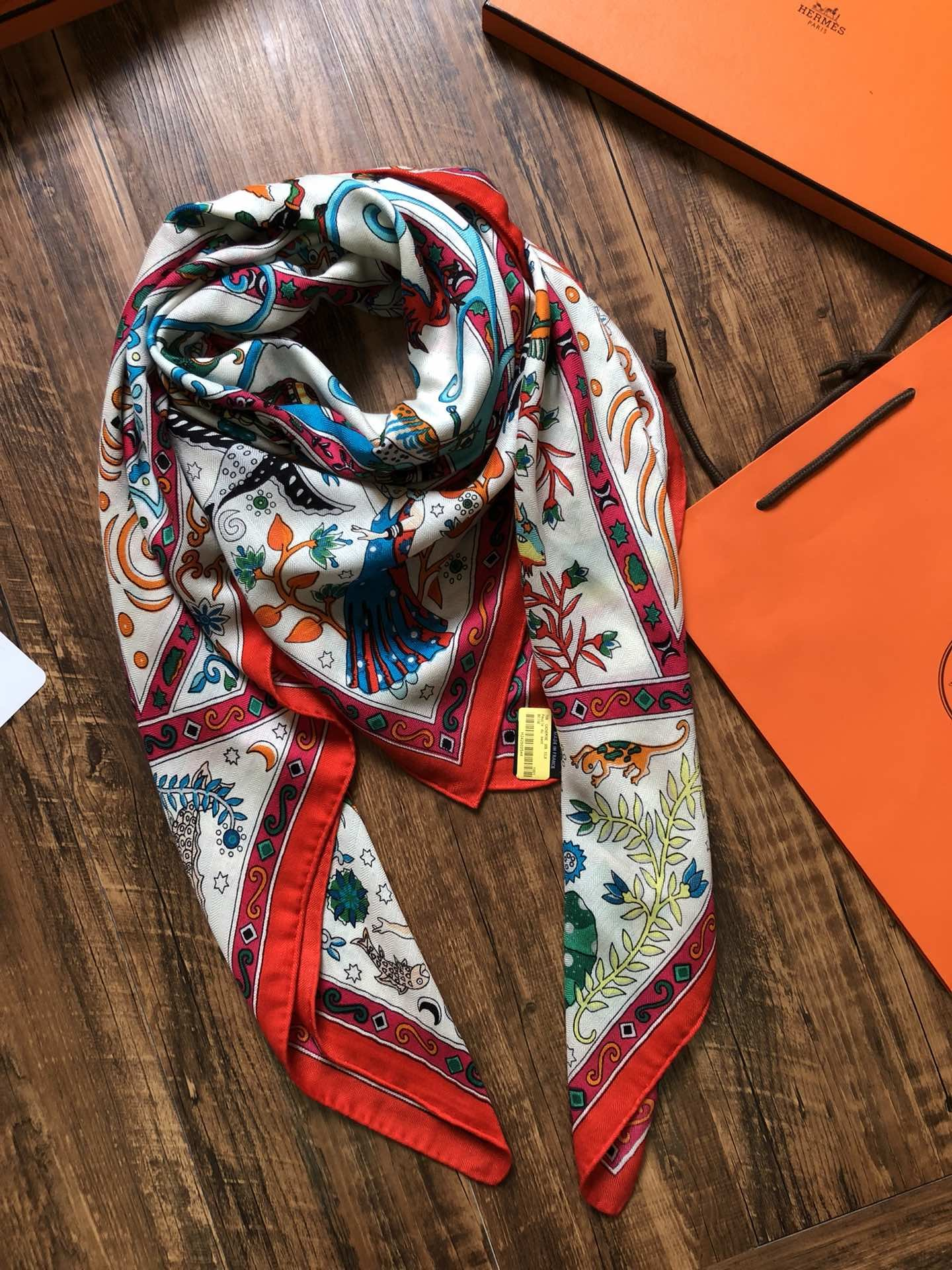 Replica Hermes Women Scarf Real Silk and Cashmere 0006