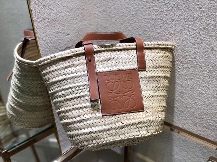 Replica Loewe Women Basket Carryall Bag Natural Tan