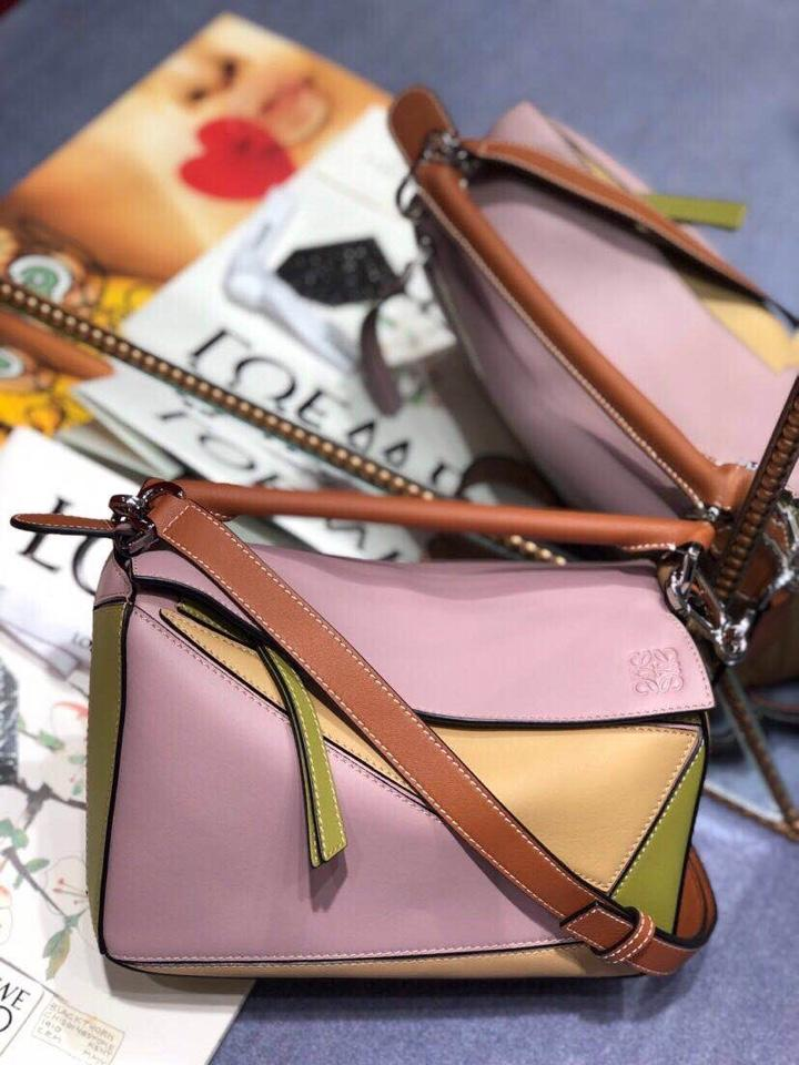 Replica Loewe Women Puzzle Small Bag Lilac Gold