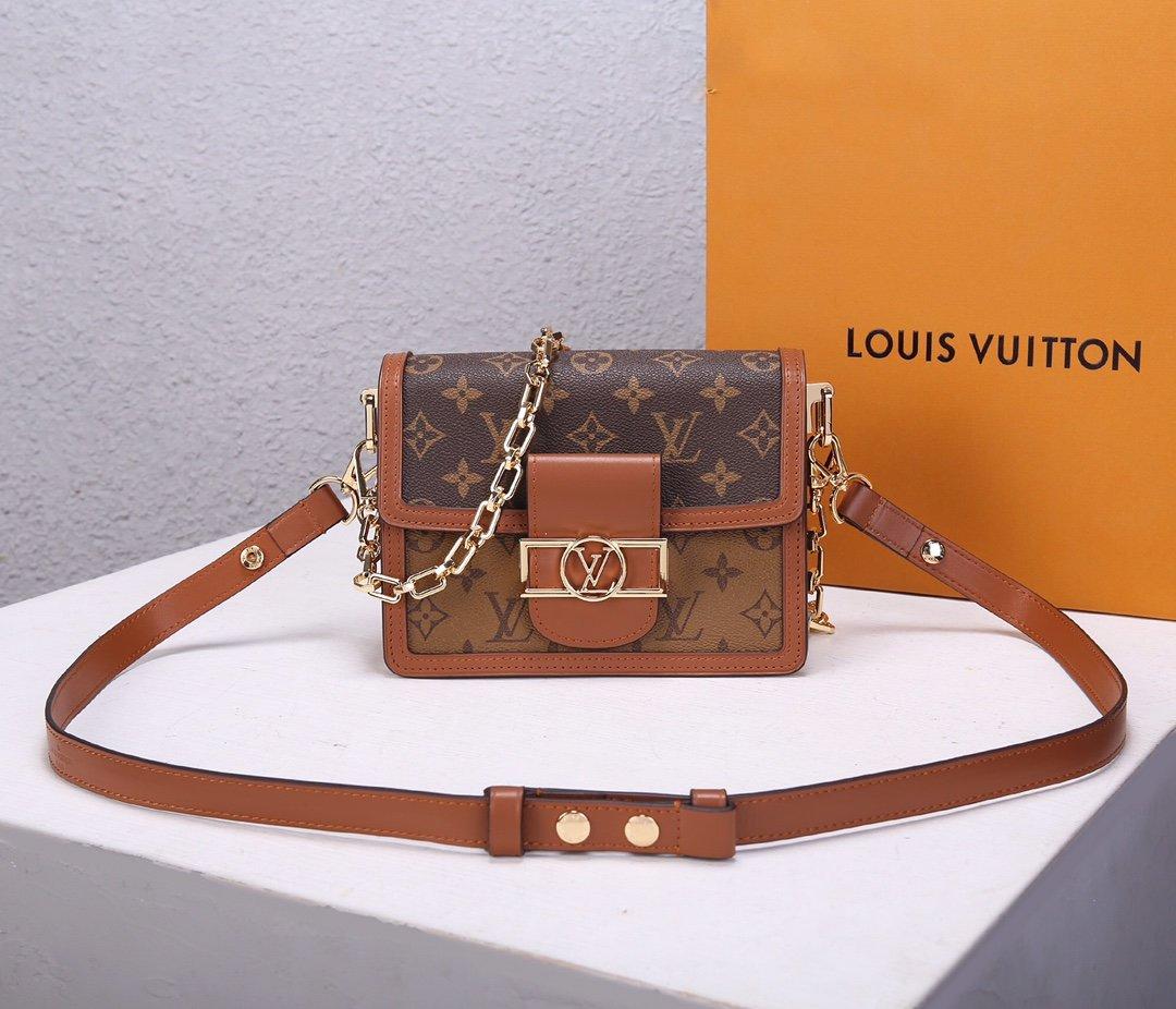Replica Louis Vuitton M44580 Mini Dauphine Latest it Bag Monogram
