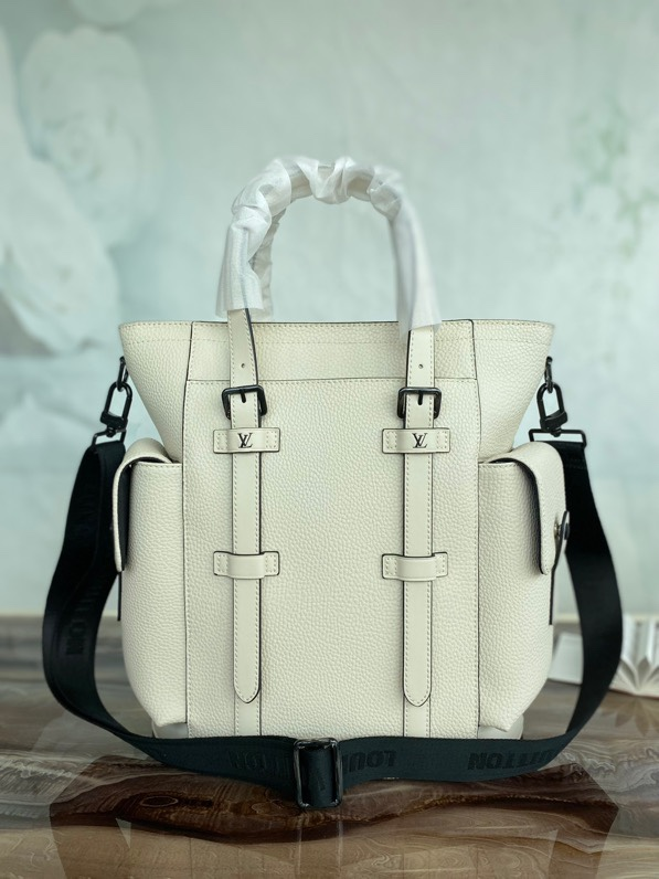 Replica Louis Vuitton M58479 Christopher Tote Backpack Beige Taurillon Leather