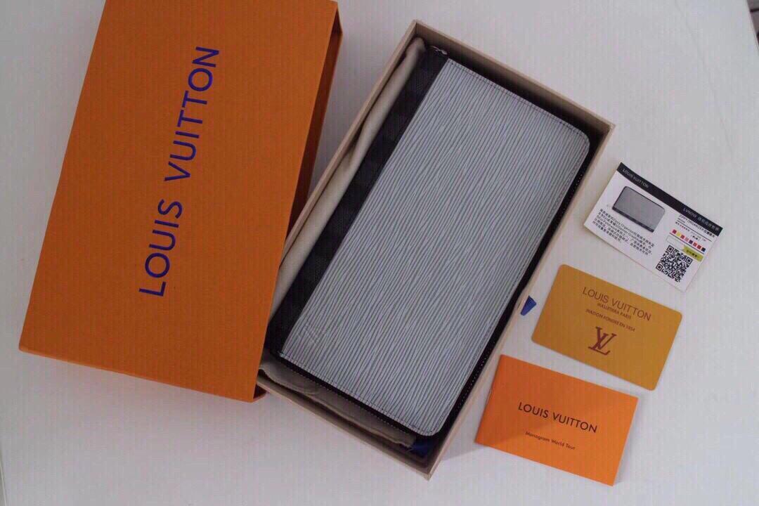 Replica Louis Vuitton M62930 Men Brazza Wallet Epi Leather