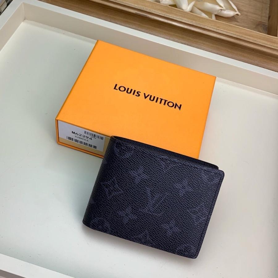 Replica Louis Vuitton Men Slender Wallet Monogram Eclipse Canvas  N62294