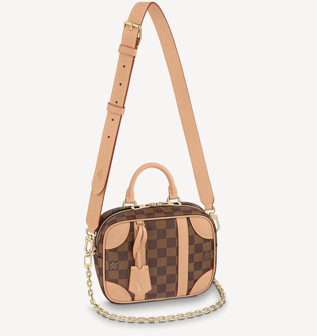 Replica Louis Vuitton N50065 Valisette Souple BB Handbag Damier Ebene Coated Canvas Natural Beige