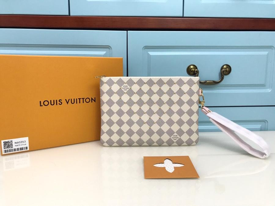Replica Louis Vuitton N60253 Women City Pouch Amier Azur Canvas