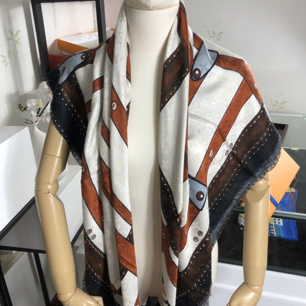Replica Louis Vuitton STUDDY DENIM MONOGRAM c Real Silk and Cashmere 0008