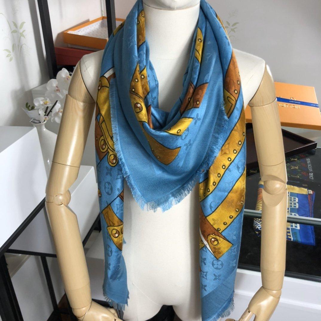 Replica Louis Vuitton STUDDY DENIM MONOGRAM c Real Silk and Cashmere 0009