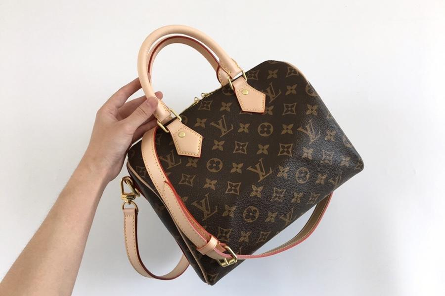 Replica Louis Vuitton Women Speedy Bandouliere 25 City Bag Monogram canvas