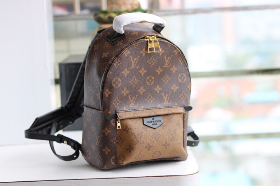 Replica Luxury Louis Vuitton M43116 Palm Springs Backpack PM Monogram Reverse Canvas