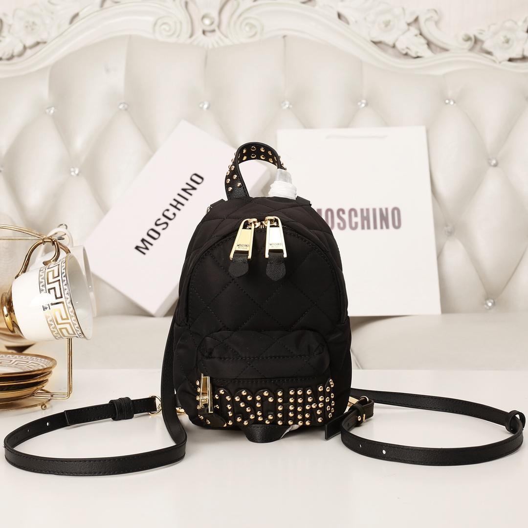 Replica Moschino Women Mini Backpack Black