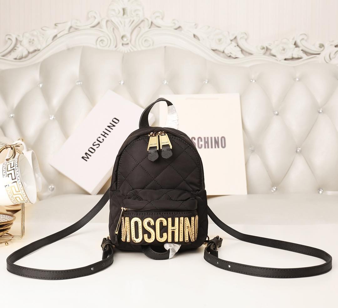 Replica Moschino Women Mini Backpack Brown