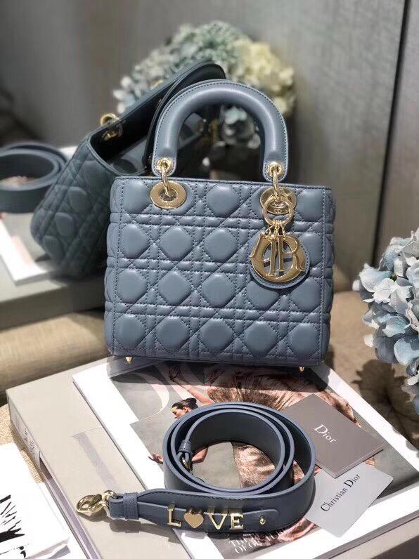 Replica My ABC Dior Lambskin Bag Blue