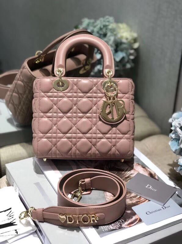 Replica My ABC Dior Lambskin Bag Blushed Powder