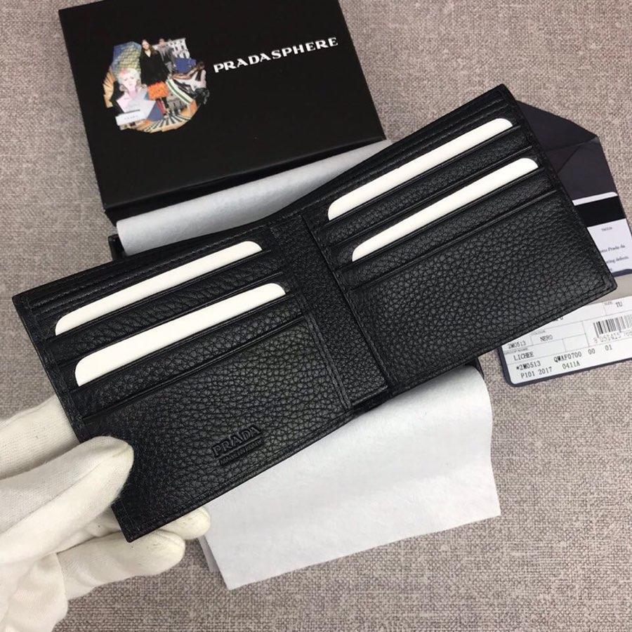 Replica Prada 2M0513-1 Classics Men Short Wallet Black