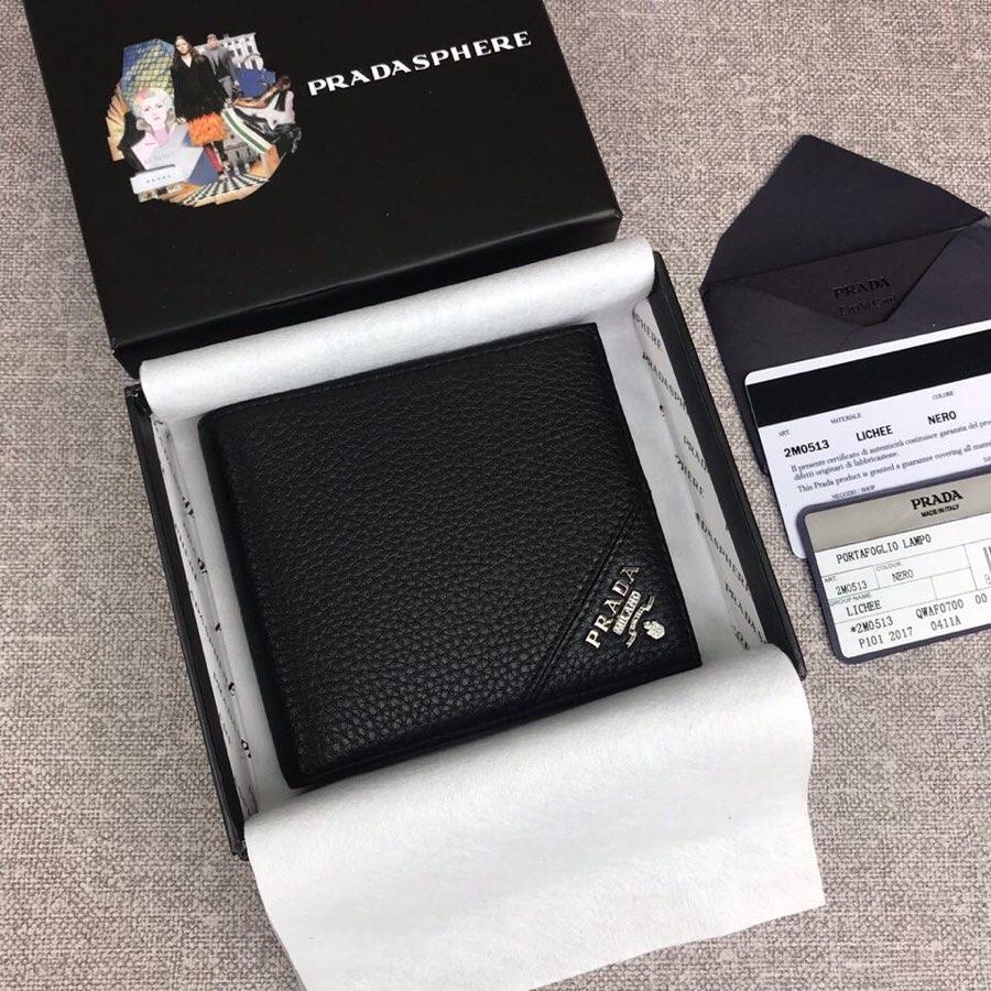 Replica Prada 2M0513-2 Classics Men Short Wallet Black