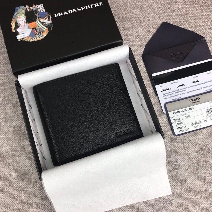 Replica Prada 2M0513 Classics Men Short Wallet Black