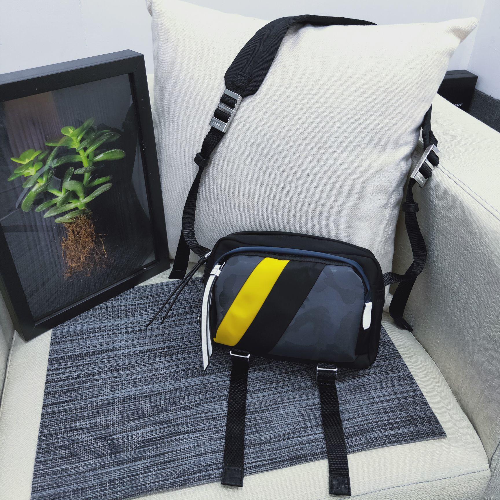 Replica Prada Men Printed Technical Fabric Bandoleer Bag 2VH043