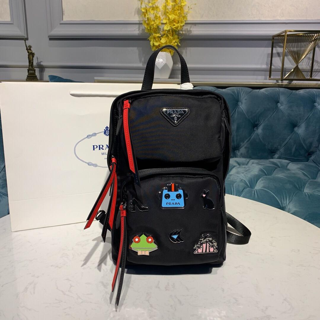 Replica Prada Women Nylon One-Shoulder Backpack 1BZ026